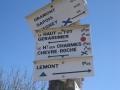 Flèchage des sentiers dans les Vosges