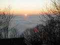 Levé de soleil sur nappe de brouillard !